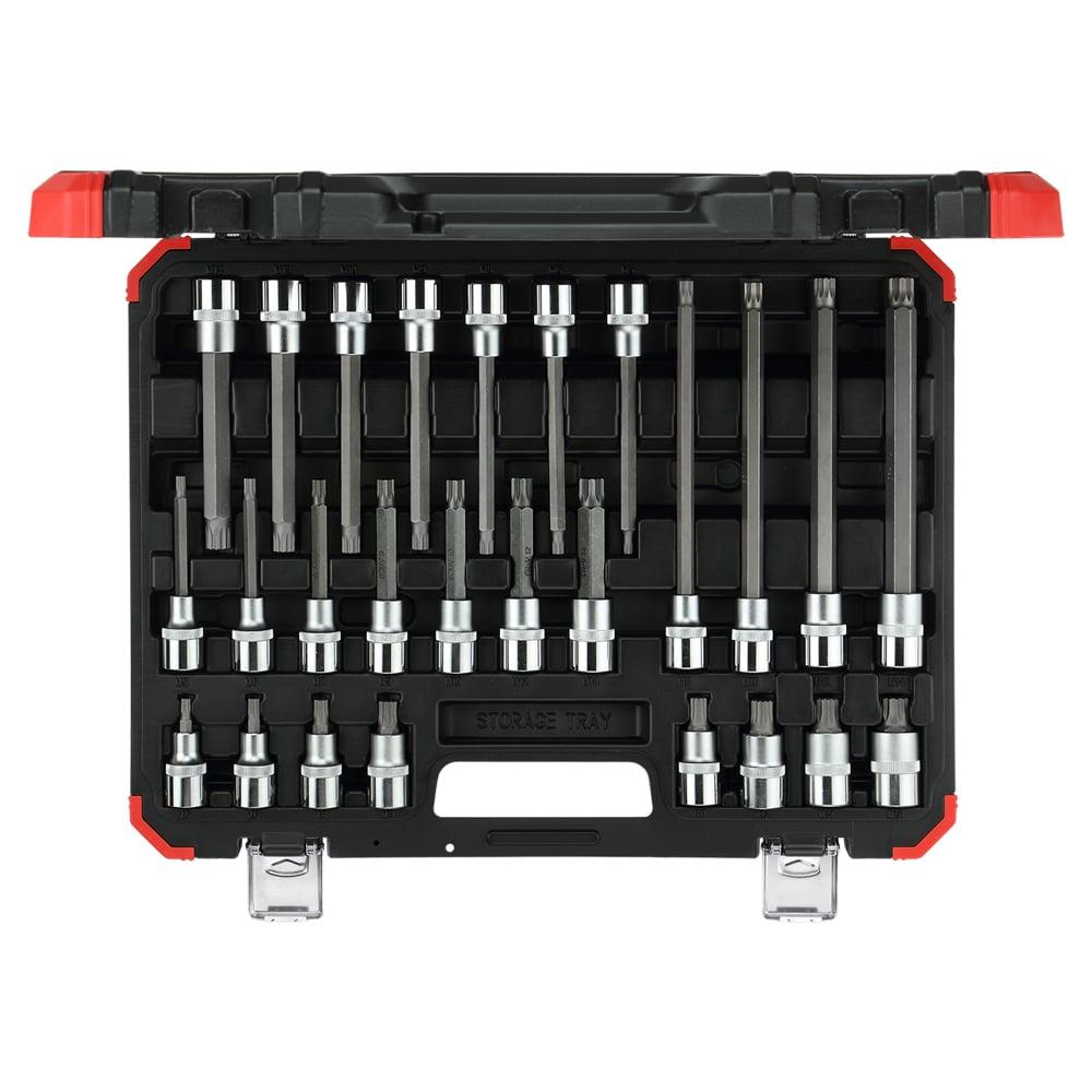 Jogo de chaves soquete 1/2″ XZN (multidentadas), 26 peças