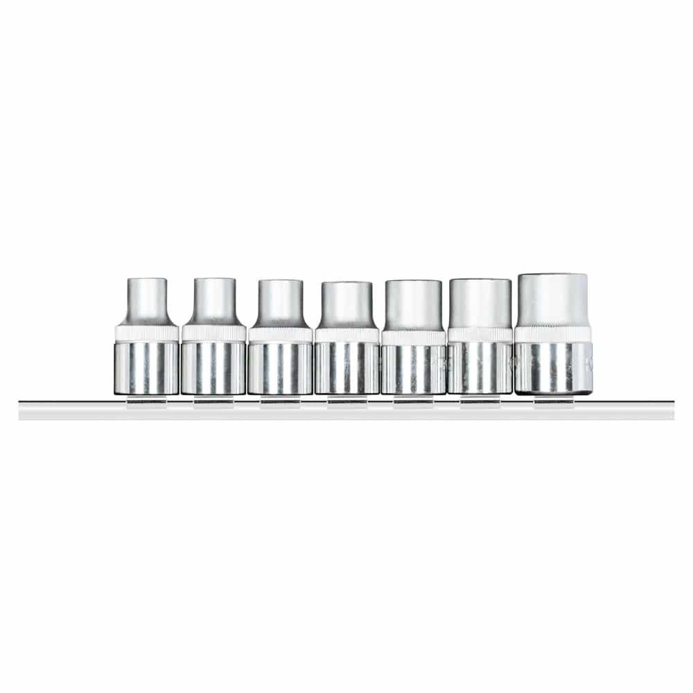 Jogo de soquetes 1/2″ TX (perfil hexalobular), 7 peças
